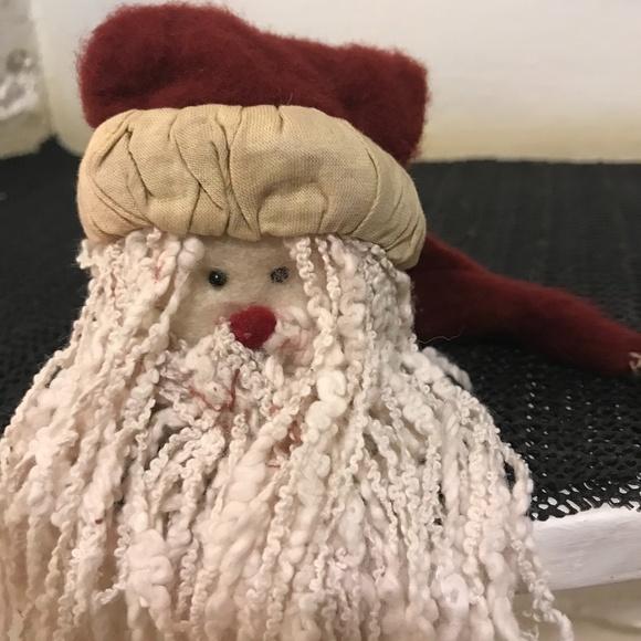 Felt handmade Santa ornament